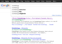 Scientology - Google Autocomplete Suchvorschläge