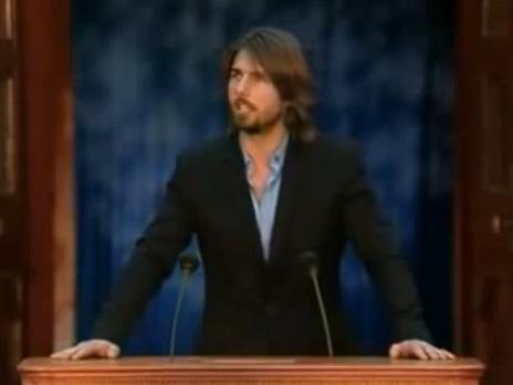US-amerikanischer Schauspieler, Filmproduzent und Scientologe Tom Cruise